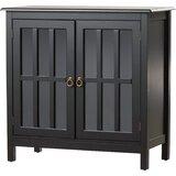 Purdue with Wooden Top 2 Door Accent Cabinet by Beachcrest Home