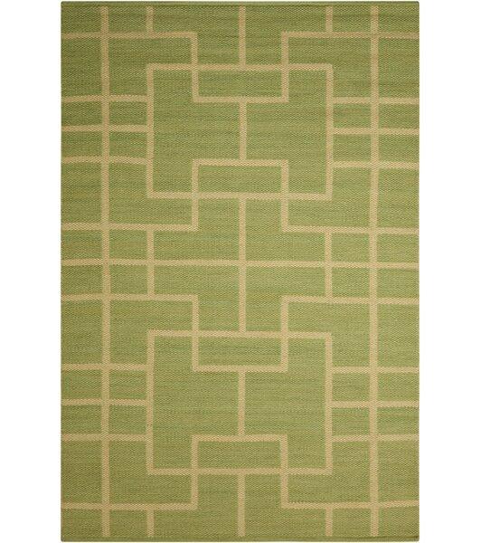 Maze Legra Hand-Woven Green Area Rug by Barclay Butera