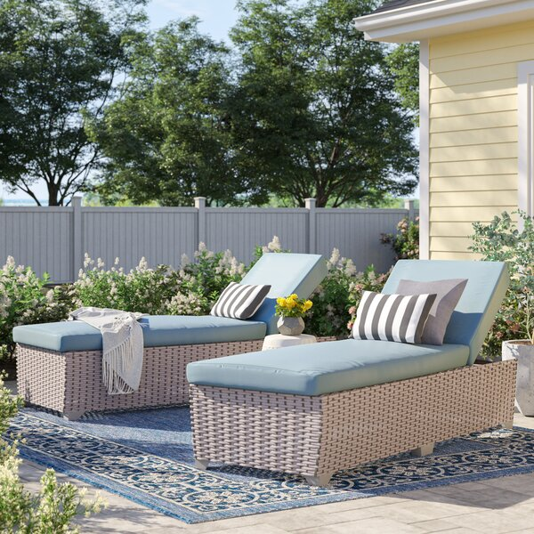 Rochford Outdoor Chaise Lounge with Cushion (Set of 2) by Sol 72 Outdoor Sol 72 Outdoor