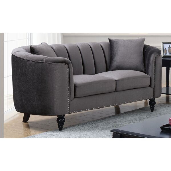 Edwa Chesterfield Loveseat by Rosdorf Park
