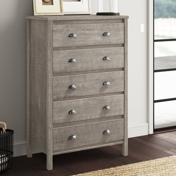 Bedias 5 Drawer Chest By Greyleigh by Greyleigh #1