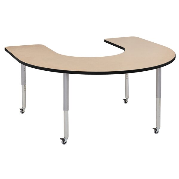 Maple Top Thermo-Fused Adjustable 60 x 66 Horseshoe Activity Table by ECR4kids