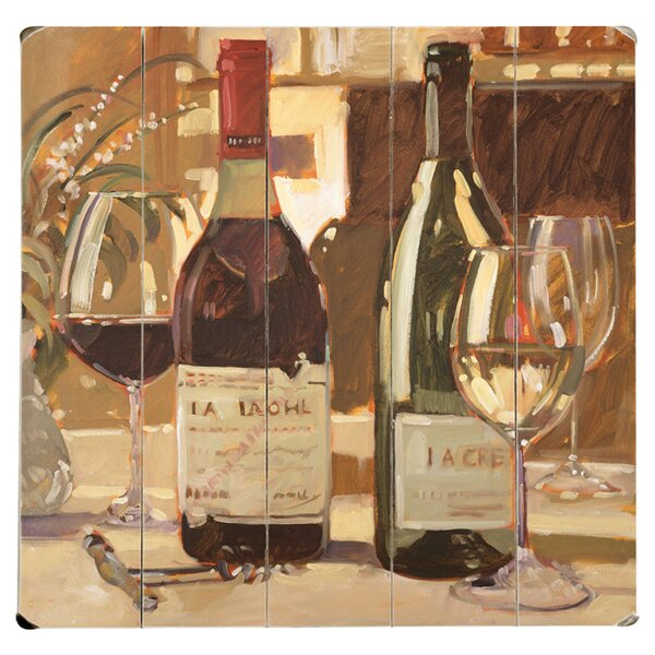 Apres Diner Drawing Print Multi-Piece Image on Wood by Artehouse LLC