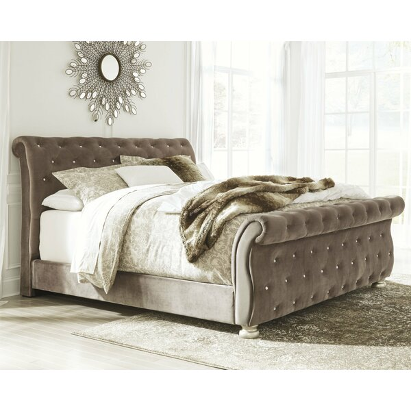 Petry Upholstered Sleigh Bed by Astoria Grand