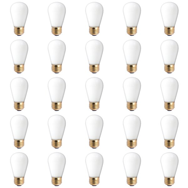 11W E26 Dimmable Incandescent Light Bulb (Set of 25) by Bulbrite Industries