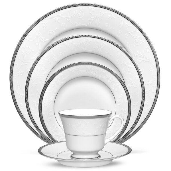 Regina Platinum 5 Piece Place Setting, Service for 1 by Noritake