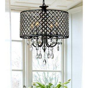 round 4light crystal chandelier