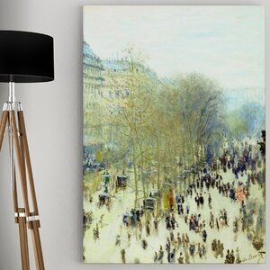 'Boulevard des Capucines' by Claude Monet Painting Print on Wrapped Canvas by Wexford Home