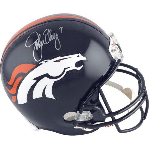Decorative John Elway Signed Denver Broncos Current Mini Helmet by Steiner Sports