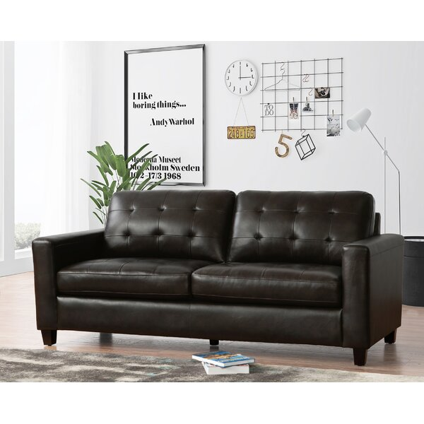 Dion Genuine Leather Sofa By 17 Stories by 17 Stories New on ...