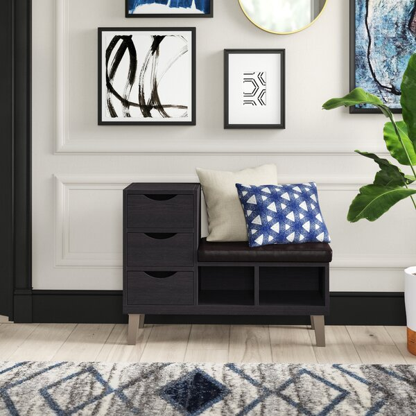 Pepin Upholstered Storage Bench by Mercury Row