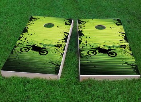 Motocross and Dirt Bike Themed Cornhole Game (Set of 2) by Custom Cornhole Boards
