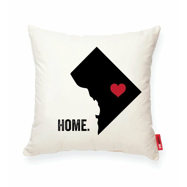 Pettry Washington DC Cotton Throw Pillow by Wrought Studio