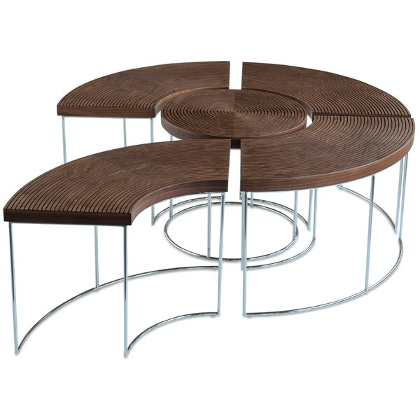 Ripples Extendable Sled 5 Bunching Table By SohoConcept
