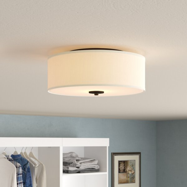 Greenwell 2-Light Flush Mount by Three Posts