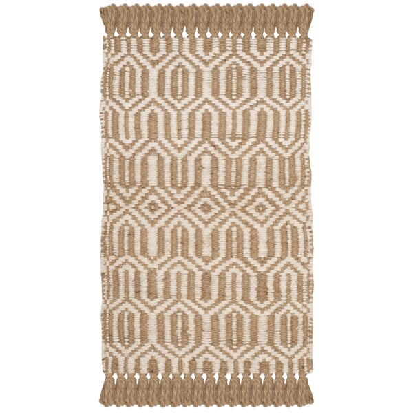 Oakland Fiber Hand-Woven Natural/Ivory Area Rug by Gracie Oaks