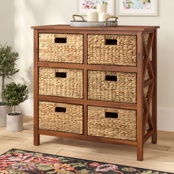 Comparison Schimpl 3 Tier X-side 6 Drawer Accent Chest by August Grove