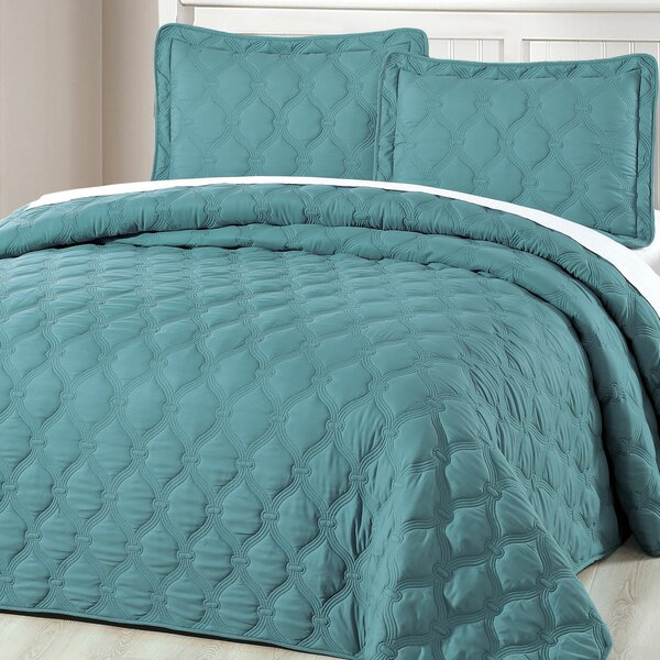 Bradly 3 Piece Coverlet Set by Serenta