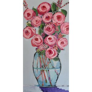 'Tall Bouquet' by Michelle Rivera Painting Print on Wrapped Canvas by Marmont Hill