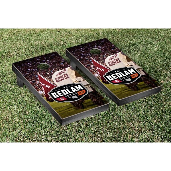 NCAA Bedlam Series Rivalry Version Cornhole Game Set by Victory Tailgate