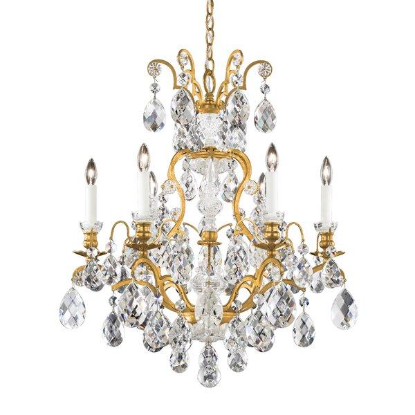 Renaissance 7 - Light Candle Style Empire Chandelier by Schonbek Schonbek