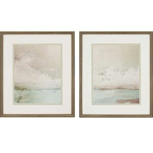 'Eastern Shore' 2 Piece Framed Painting Print Set by Beachcrest Home