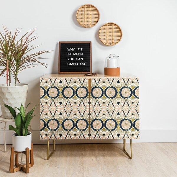 Marta Barragan Camarasa Marble Mosaic Pattern Birch Accent Cabinet