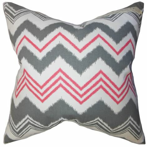 Coldwell Zigzag Cotton Throw Pillow by Mercury Row