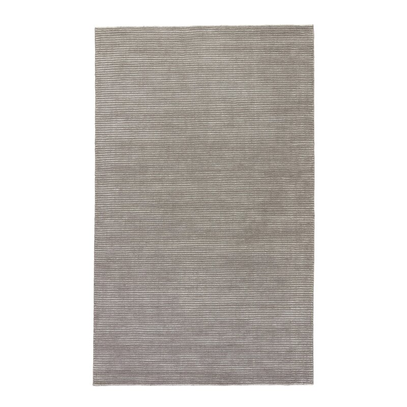Melbourne Wool Silk Light Grey Area Rug