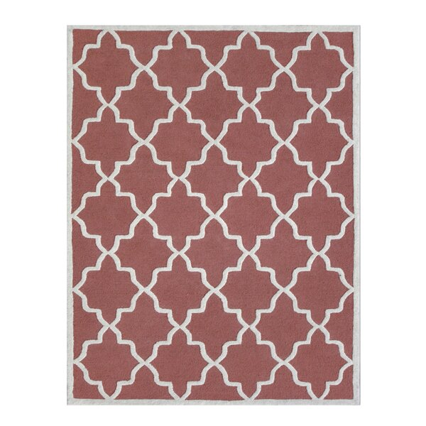 Siesta Arcade Hand-Tufted Coral Area Rug by DecorShore