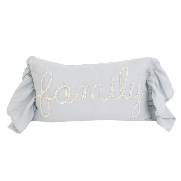 Kari Family Rope Script Throw Pillow by August Grove