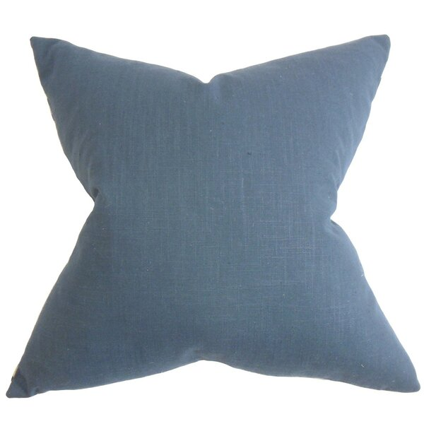Kilpatrick Solid Cotton Throw Pillow by The Twillery Co.