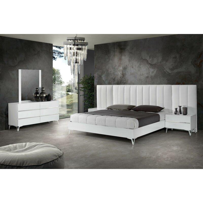 Orren Ellis Kayna Italian Modern Platform 3 Piece Bedroom Set
