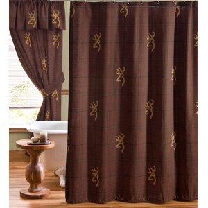 Buckmark Cotton Shower Curtain
