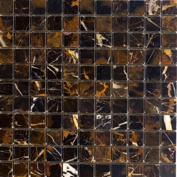 1 x 1 Marble Mosaic Tile in Michaelangelo by Epoch Architectural Surfaces