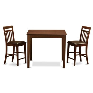 3 Piece Counter Height Pub Table Set by East West Furniture