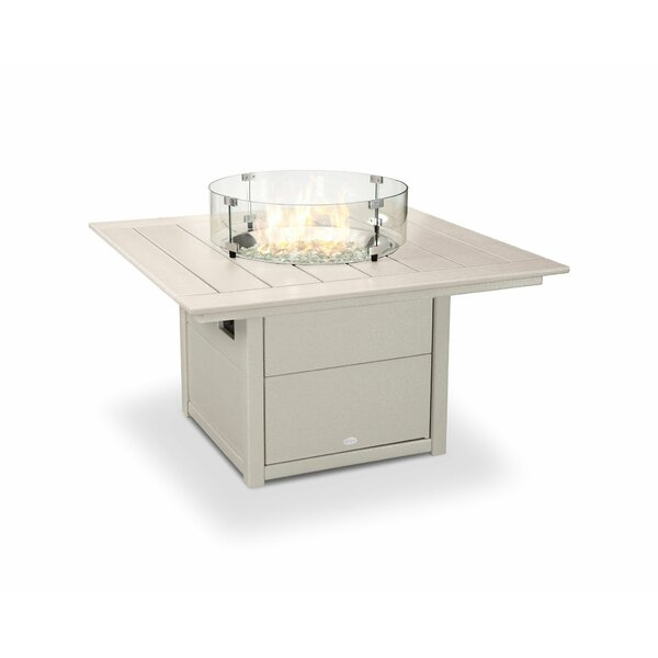 Poly-resin Propane/Natural Gas Fire Pit Table by POLYWOOD®