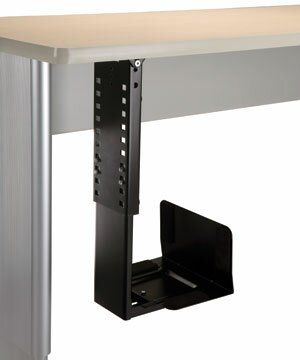 20 H x 10 W Desk CPU Holder by Populas Furniture