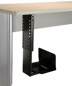 20 H x 10 W Desk CPU Holder by Populas Furniture