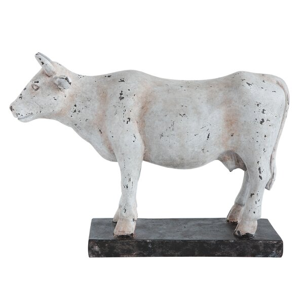 Helwig Resin Cow on Stand Figurine by August Grove