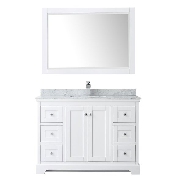 Avery 48 Single Bathroom Vanity Set with Mirror