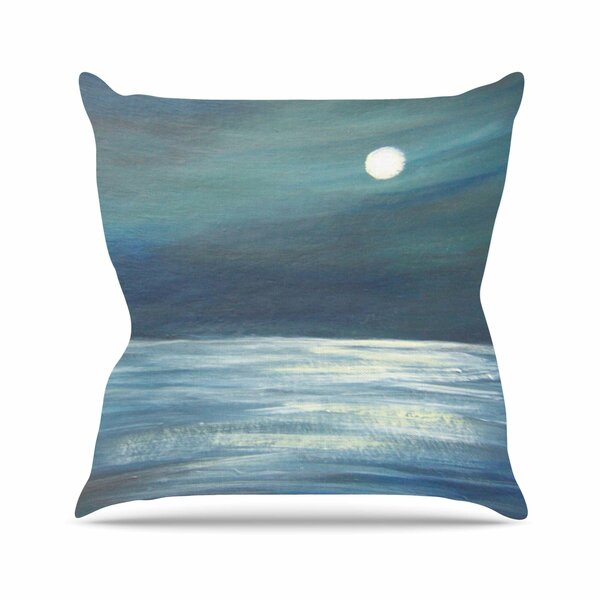 Cyndi Steen a Walk in the Moonlight Outdoor Throw Pillow by East Urban Home