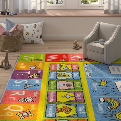 Weranna ABC Seasons Months And Days Of The Week Educational Learning  Blue/Yellow Indoor/