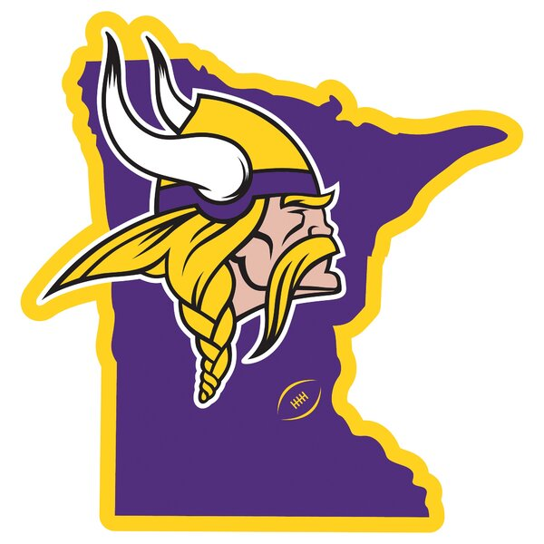 NFL Minnesota Vikings Home State Magnet by Siskiyou Products