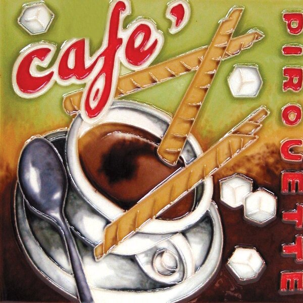 Cafe with Cookies Tile Wall Decor by Continental Art Center