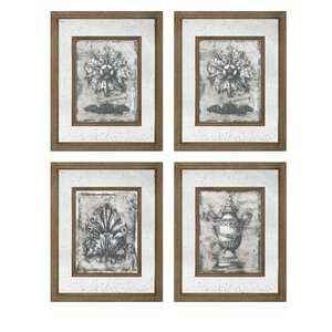 'Mirror' 4 Piece Graphic Art Set by Astoria Grand