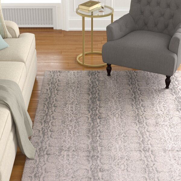 Deering Taupe/Gray Area Rug by Darby Home Co