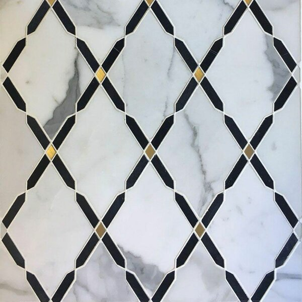Sized Marble Mosaic Wall & Floor Tile