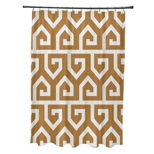 bungalow rose nikhil geometric print shower curtain wayfair. Black Bedroom Furniture Sets. Home Design Ideas