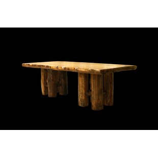 Price comparison Amias Stump Base Solid Wood Dining Table By Millwood Pines